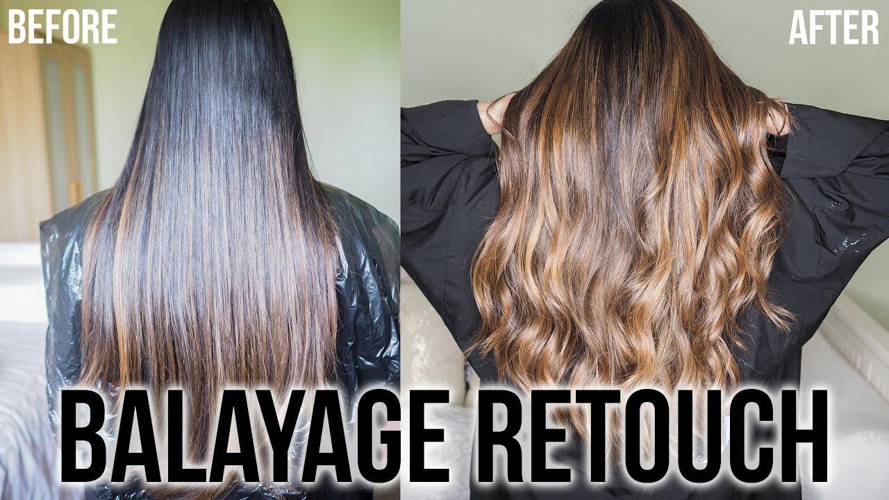 Balayage Highlights On Dark Hair Retouch 2017 Ysis Lorenna Youtube