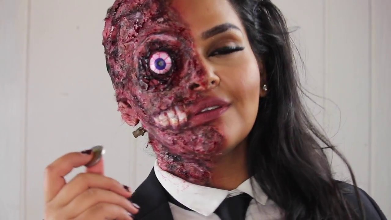 Harvey Dent | Two Face HALLOWEEN Makeup Tutorial - YouTube