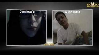 Me and my love on oovoo i want everybody to see my cute baberz lol
