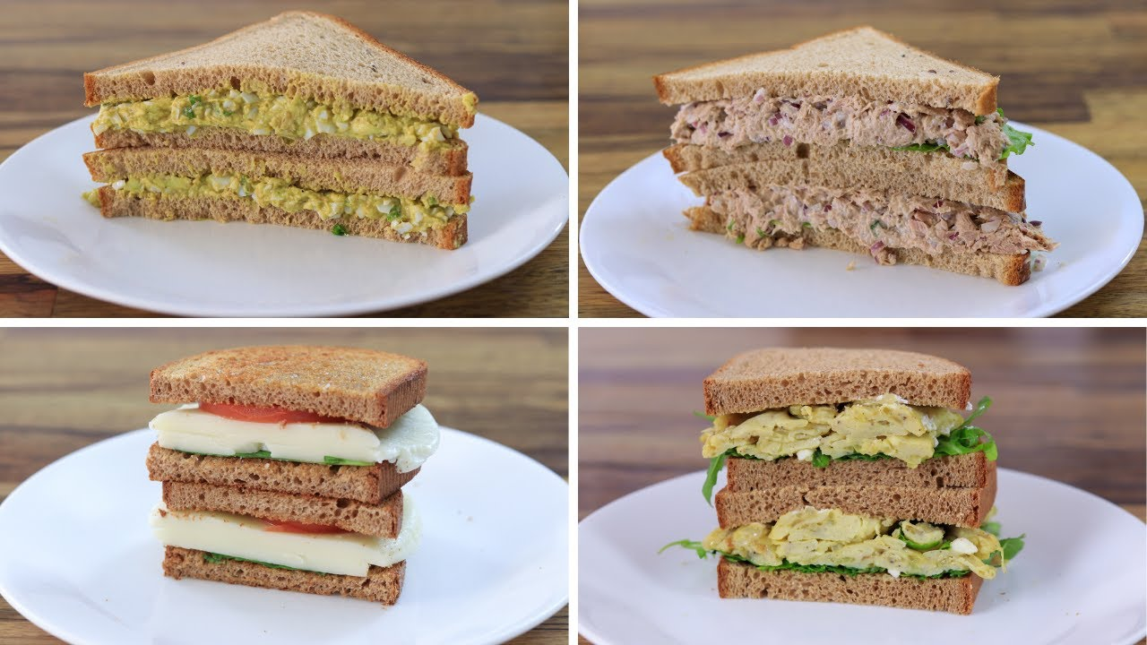 5 Healthy Sandwich Recipes Youtube