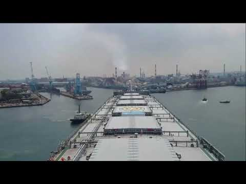 Bulk Carrier Vessel Maneuvering Time Lapse