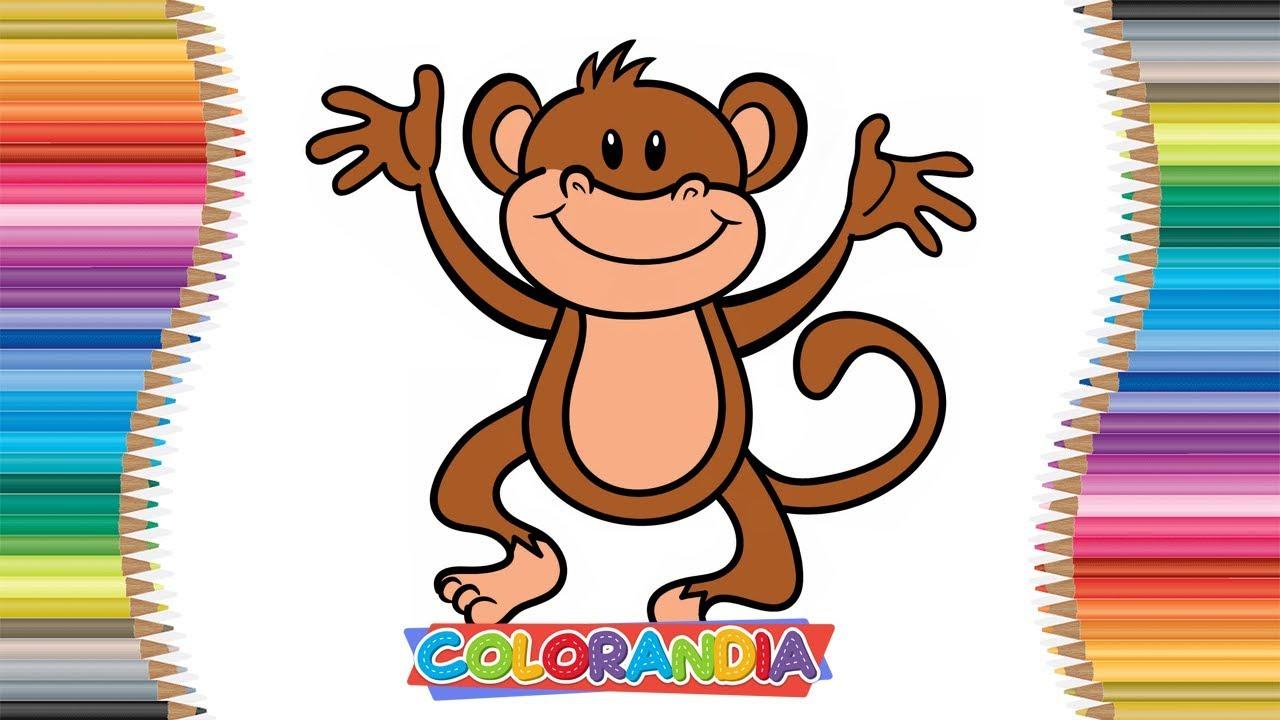 Macaco Como Desenhar E Colorir Jogos De Pintar Desenhos Animados