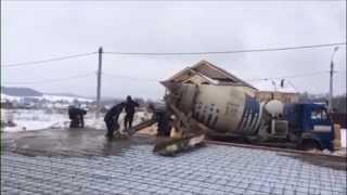 Доставка бетона в г. Ижевск, пос. Чистопрудный. 20 кубов(Заливка в зимнее время с использованием трансформатора для прогрева бетона в Ижевске. ООО
