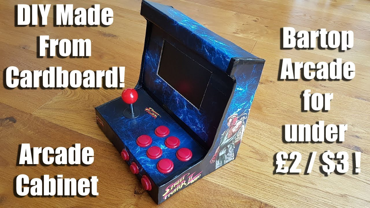 How To: Make an awesome Arcade Cabinet / Bartop Arcade for under £2 / $3 !