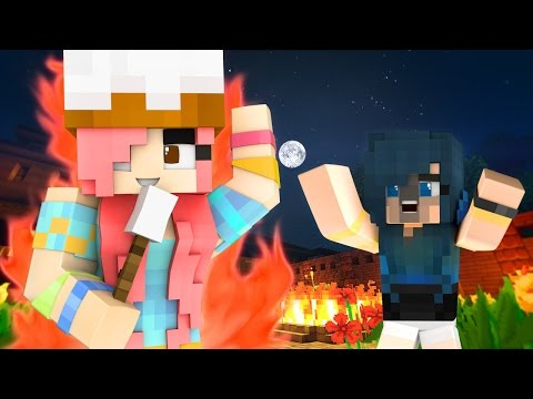 Minecraft Camping - I'M ON FIRE!!! (Minecraft Roleplay)