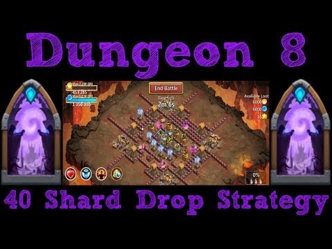 Castle Clash Strategy:Dungeon 8 (40 Shard Drop)