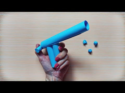 Paper gun that shoots paper balls | Paper games for kids | Kids crafts