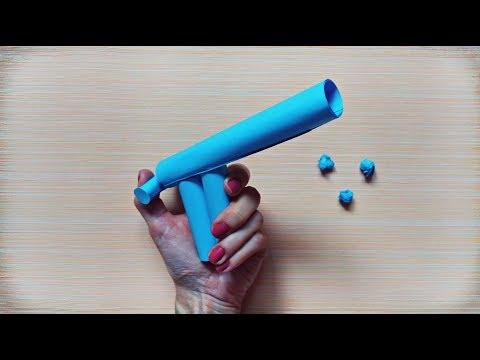 Paper Gun That Shoots Paper Balls | Paper Games For Kids | Kids Crafts