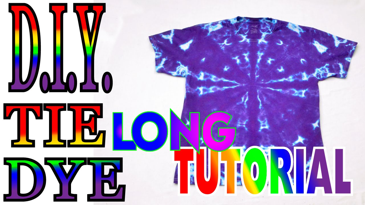 0fdf4a5f6 1 Color Tie Dye Shirt [Full Tutorial] #45 - YouTube