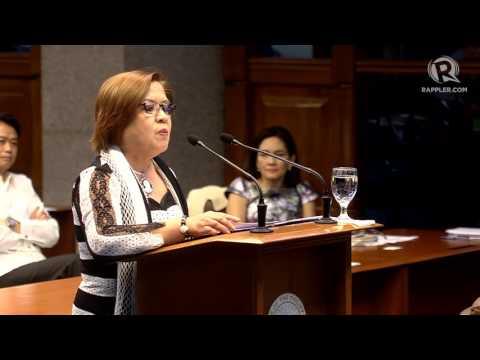 WATCH: Senator Leila de Lima's privilege speech on extrajudicial killings