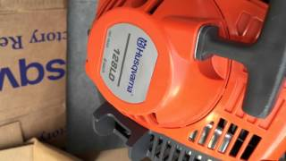 How to replace string trimmer line on Husqvarna 128LD
