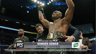 UFC 245: Decision Time