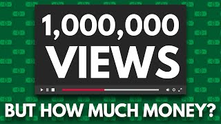 How Much YouTube Paid Me VS. Other YouTubers for 1 MILLION Views Video