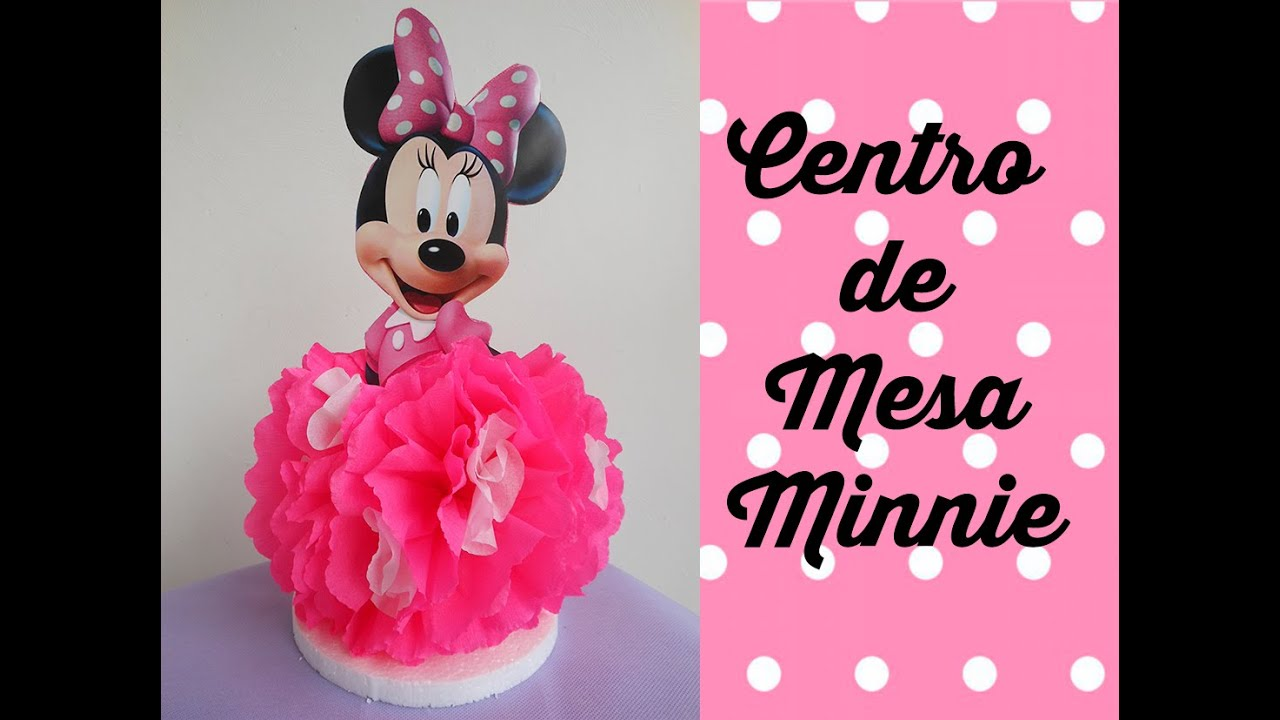 Centro De Mesa Minnie Mouse Centerpiece Minnie Mouse Doovi