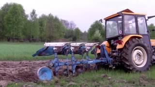 Orka trawy, uprawa i siew łubinu czyli wiosna 2013 Ursus c-360 3p + AGRO MASZ, Lemken Opal 90