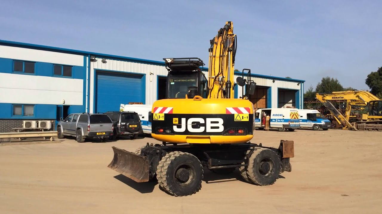 Jcb Js160 W Wheeled Excavator Rubber Duck For Sale Youtube