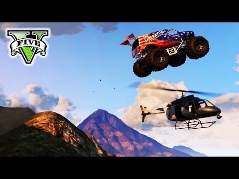 GTA 5 MONSTER TRUCK Derby! | GTA V Epic Stunts & Demolition Derby | Grand Theft Auto V