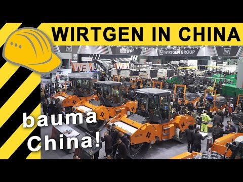 Wirtgen at bauma China 2016 - German Marketleader on Asian Markets [4K]