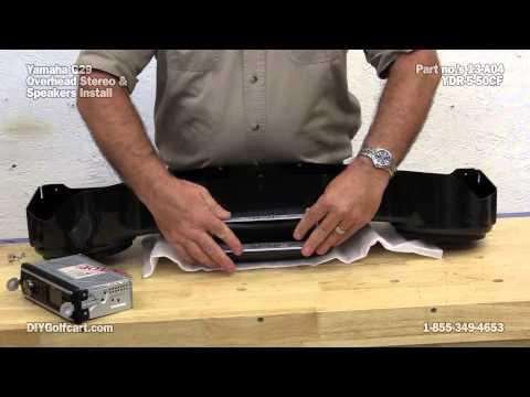 Golf Cart Overhead Radio Console | How To Install On Yamaha Drive Golf Cart