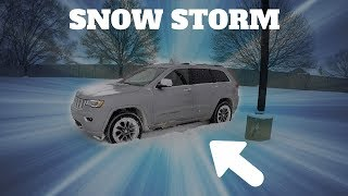 Driving in a Sฑow Storm GONE WRONG!!