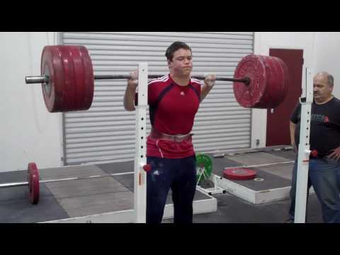 Ian Wilson 220kg/485lbs Squat @ age 15