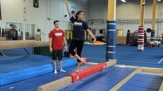 How to Do a Balance Beam Routine | Gymnastics Lessons