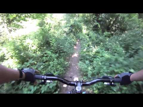 Cunningham Park mountain bike trail Queens NYC 2015
