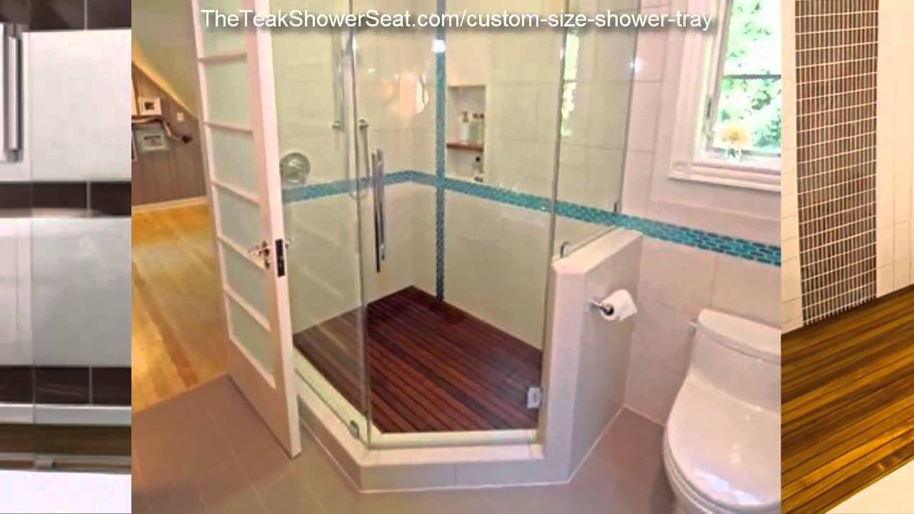 The Teak Shower Seat | Custom Teak Shower Trays | (208) 226-4498 ...