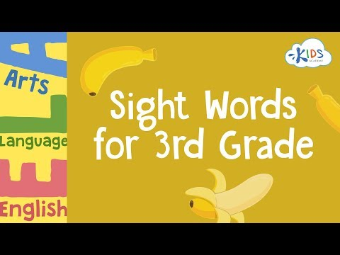 Sight Words Worksheets for 3rd Grade | Kids Academy