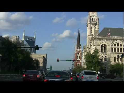 Driving in Downtown Nashville, TN