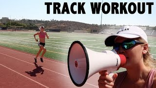 COACHING MY SISTER'S TRACK WORKOUT