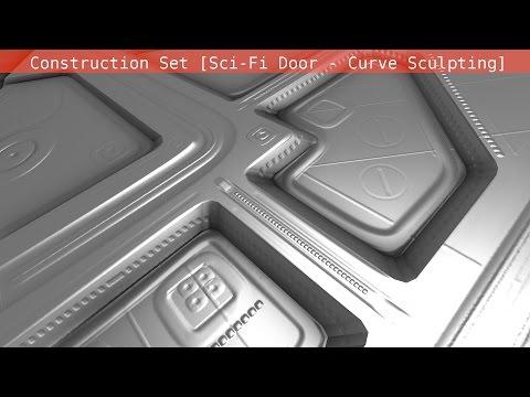 Modular Sci Fi-Set Wip 203 Blender 2 75a Curve Sculpting