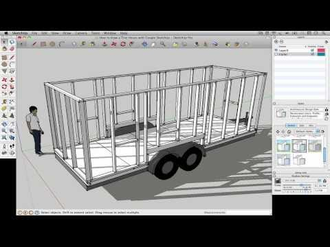 How to draw a Tiny House with Google SketchUp - Part 1