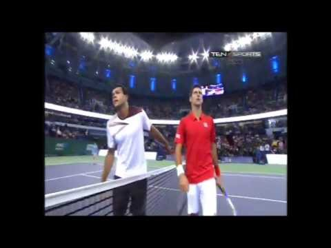 Novak Djokovic vs. Jo Wilfried Tsonga - Shanghai Masters Open 2013 - Match Point - 12.10.2013