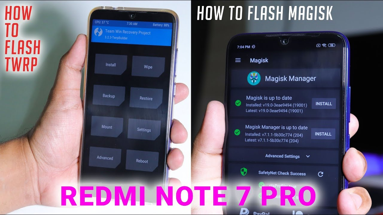 How To Flash TWRP + Magisk & Unlock Bootloader Of Redmi Note 7 Pro!