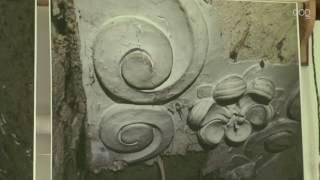 Zeldzaam stucplafond gevonden in Poelestraat