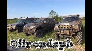 Битва Гигантов и их лебёдок, Nissan patrol, Land Rover Discovery, Mitsubishi L200