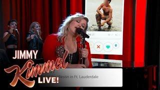 Kelly Clarkson Sings Tinder Profiles thumbnail
