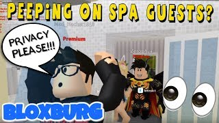 BLOXBURG SPA TOUR AND OPENING - ROBLOX
