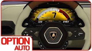 New Lamborghini Asterion 320 km/h Speedo Animation (Option Auto News)