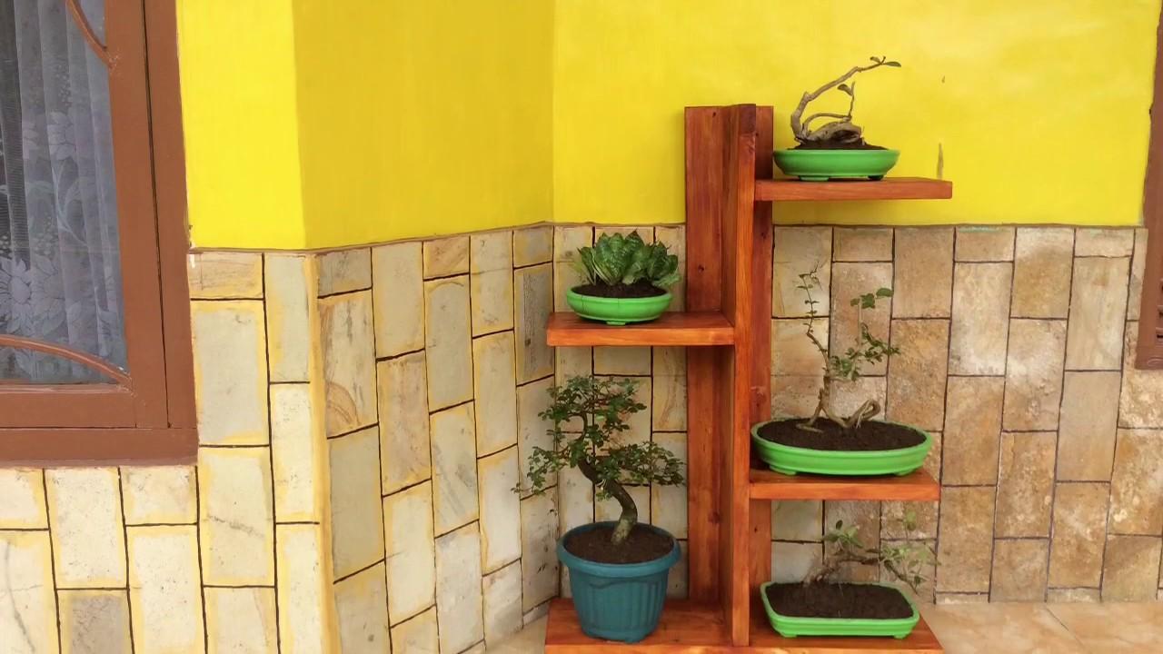 Cara Membuat Sendiri Rak Pot Bunga Dari Limbah Kayu Youtube