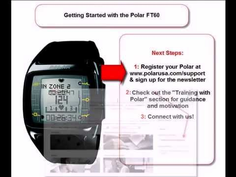 Polar FT60 Heart Rate Monitor: Getting Started