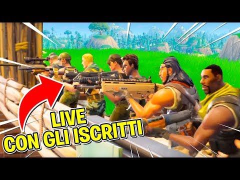 Fortnite - LIVE - MATCH PRIVATI CON GLI ISCRITTI!!