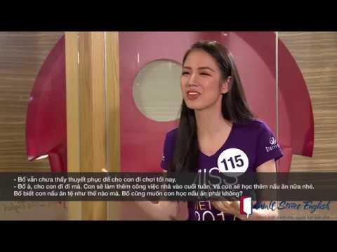 Thí sinh Vũ Thị Tuyết Trang tự tin trong phần thi Tiếng Anh | Miss Universe Vietnam