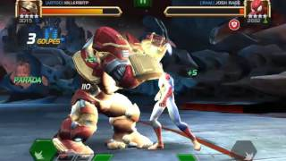 HULKBUSTER VS SPIDERMAN MCOC - BUG DE  CAMARA XD