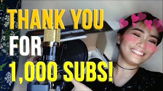 BM-800, MY SETUP AND HOW I EDIT MY VOCALS | Rufina Guerrero (THANK YOU FOR 1K SUBS!)