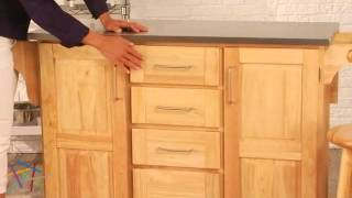 The Fairmont Kitchen Cart With Optional Stools - Product Review Video