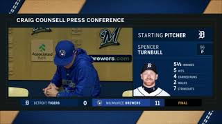 Craig Counsell on the Brewers' approach to the Cubs