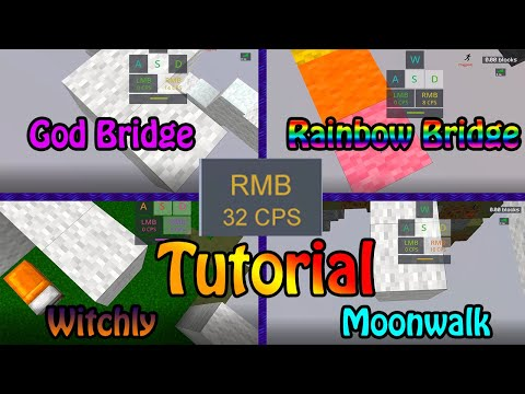 [Tutorial] Minecraft Drag/Moonwalk/Breezily/Witchly/GodBridge - With Hand Cam, Keystrokes And Cps