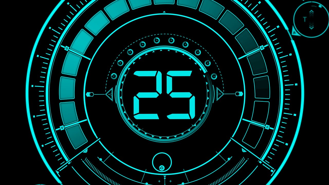 Countdown Timer 25 sec ( v 469 ) Circle Timer with timer sound effects ...